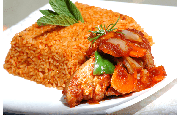 Week meal                        Ghana Food: Jollof Rice!